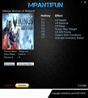 Vikings - Wolves of Midgard Trainer for PC game version v2.1