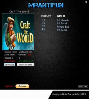 Craft The World Trainer for PC game version v1.5.000