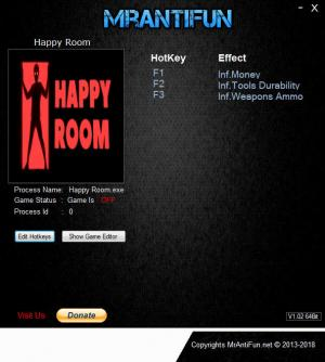 Happy Room Trainer for PC game version v2.0