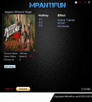 Jagged Alliance: Rage! Trainer +2 v08.01.2019 {MrAntiFun}