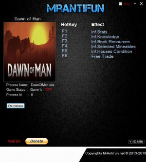 Dawn of Man Trainer for PC game version v0.4.0