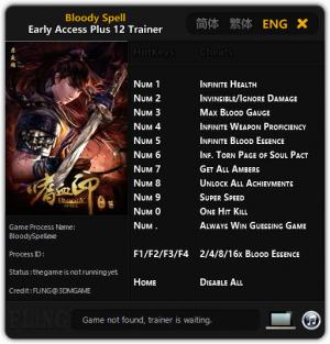 Bloody Spell Trainer +12 Early Access {FLiNG}