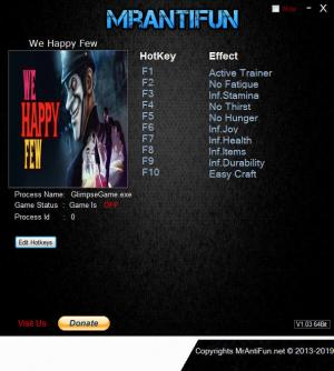 We Happy Few Trainer +9 v1.6.76676 64bit {MrAntiFun}