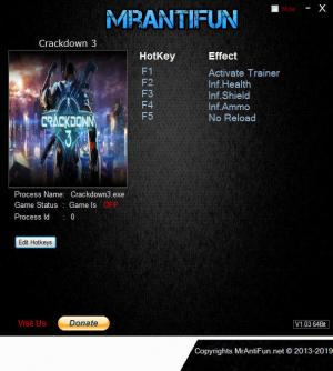 Crackdown 3 Trainer +4 v1.00 {MrAntiFun}