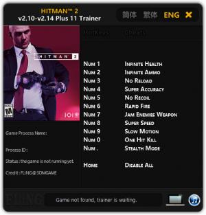 Hitman 2 Trainer +11 v2.14 {FLiNG}
