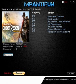 Tom Clancy's Ghost Recon Wildlands Trainer +7 v3552261 {MrAntiFun}