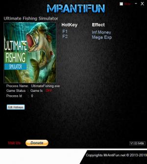 Ultimate Fishing Simulator Trainer for PC game version v1.3.1.391