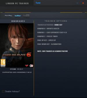 Dead or Alive 6 Trainer +5 v1.0.1 {LinGon}