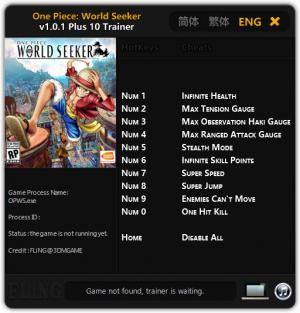 ONE PIECE World Seeker Trainer +10 v1.0.1 {FLiNG}