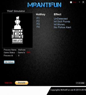 Thief Simulator Trainer for PC game version v24.03.2019