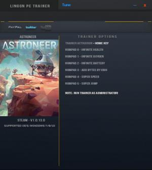 ASTRONEER Trainer for PC game version v1.0.13.0