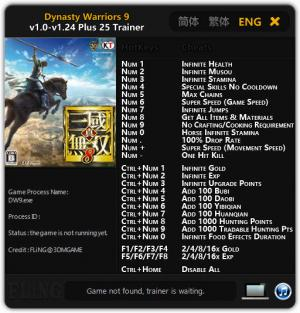 Dynasty Warriors 9 Trainer +25 v1.24 {FLiNG}
