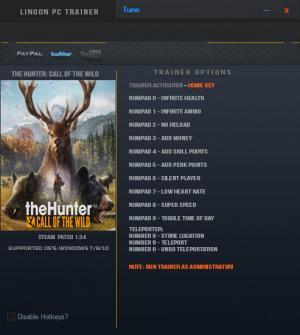 theHunter: Call of the Wild Trainer +12 v1.34 {LinGon}