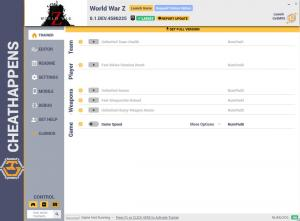 World War Z Trainer +7 v0.1.DEV.4586225 (Cheat Happens)