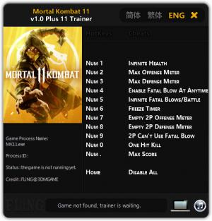 Mortal Kombat 11 Trainer +11 v1.0 {FLiNG}