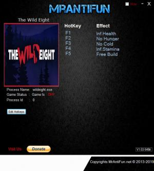 The Wild Eight Trainer +4 v0.11.9 64bit {MrAntiFun}