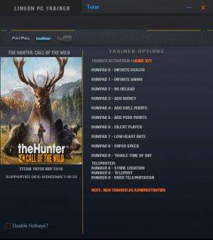 theHunter: Call of the Wild Trainer for PC game version v1.35