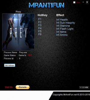 Prey 2017 Trainer for PC game version v13.05.2019