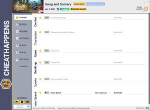Swag and Sorcery Trainer for PC game version v1.030
