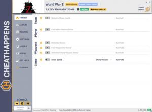 World War Z Trainer +7 v0.1.DEV.4701999/4705029 (Cheat Happens)
