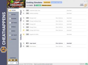 Cooking Simulator Trainer for PC game version v1.2.12655