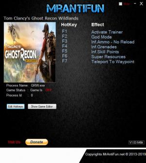 Tom Clancy's Ghost Recon Wildlands Trainer +7 v3747852 {MrAntiFun}