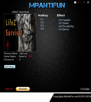 LifeZ - Survival Trainer for PC game version v17.06.2019