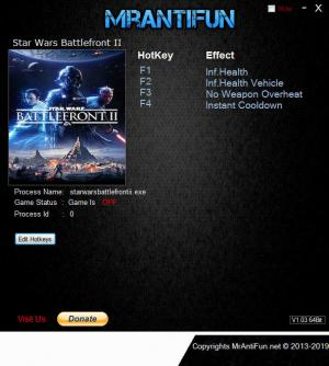 Star Wars: Battlefront 2 2017 Trainer for PC game version v29.06.2019