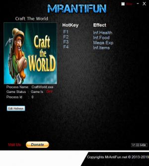 Craft The World Trainer +4 v1.6.001 {MrAntiFun}