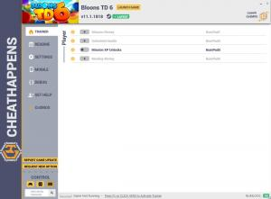 Bloons TD6 Trainer for PC game version v11.1.1818
