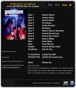 Wolfenstein: Youngblood Trainer +16 v29.07.2019 {FLiNG}