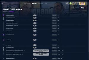 Grand Theft Auto 5 Trainer for PC game version v01.08.2019