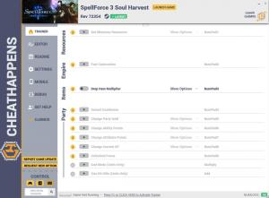 SpellForce 3: Soul Harvest  Trainer for PC game version Rev 72354
