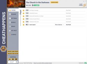 The Church in the Darkness Trainer for PC game version v1.0.0