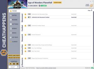 Age of Wonders: Planetfall Trainer for PC game version v1.004.36544