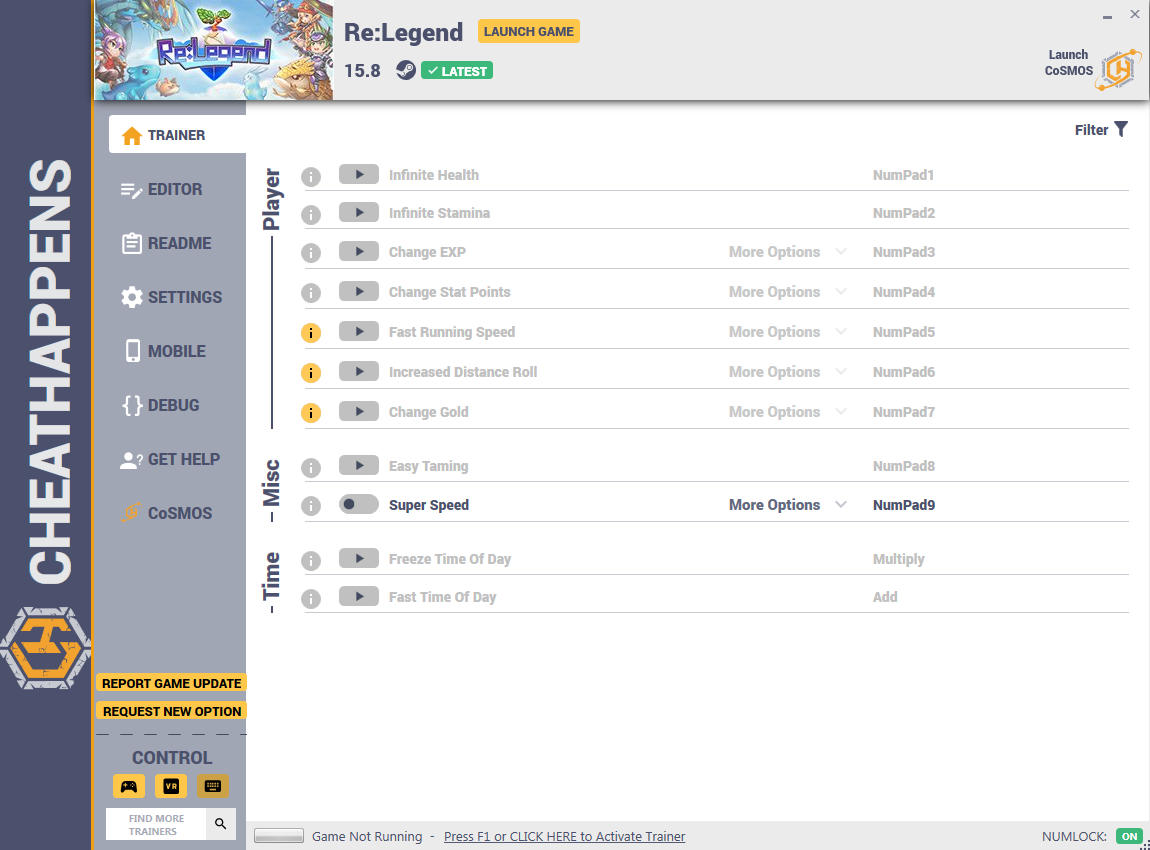 Re:Legend Trainer +25 v15 8 1 (Cheat Happens) - download pc