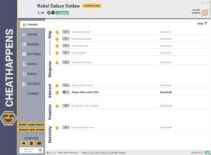 Rebel Galaxy Outlaw Trainer for PC game version v1.16