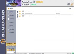 Fantasy General II Trainer for PC game version v01.00.07074