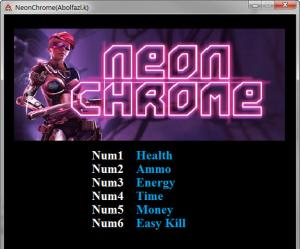 Neon Chrome Trainer +6 v1.1.7 {Abolfazl.k}