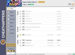 Super Robot Wars V Trainer for PC game version v1.0