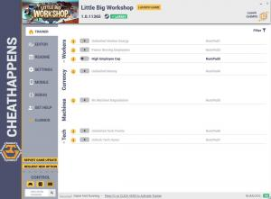 Little Big Workshop Trainer for PC game version v1.0.11365