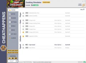 Cooking Simulator Trainer for PC game version v2.0.0.6