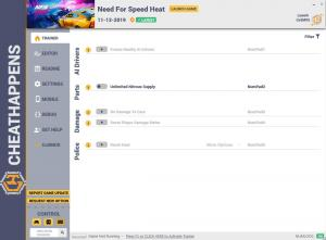 Need for Speed Heat Trainer for PC game version v11.12.2019