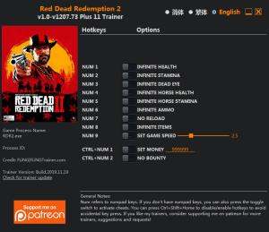 Red Dead Redemption 2 Trainer +11 v1207.73 {FLiNG}
