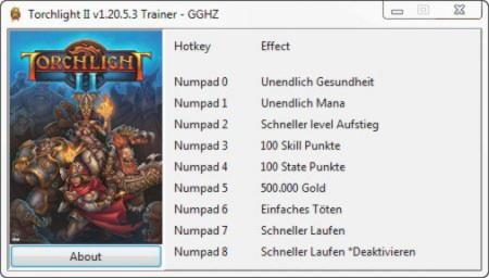 Torchlight 2 Trainer +8 v1.20.5.3 Chris/GGHZ - download ...