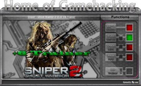 Sniper: Ghost Warrior 2 Trainer +6 v1.0 {HoG}