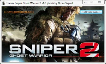 Sniper: Ghost Warrior 2 Trainer +6 v3.4.1.4621 {GHL}