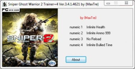 Sniper: Ghost Warrior 2 Trainer +4 v3.4.1.4621 {MaxTre}