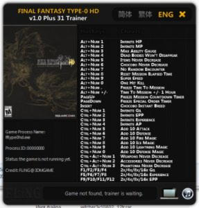 Final Fantasy Type-0 HD Trainer +31 v1.0 {FLiNG}