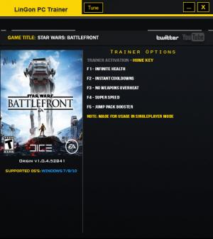 Star Wars: Battlefront Trainer +5 v1.0.4.52851 {LinGon}